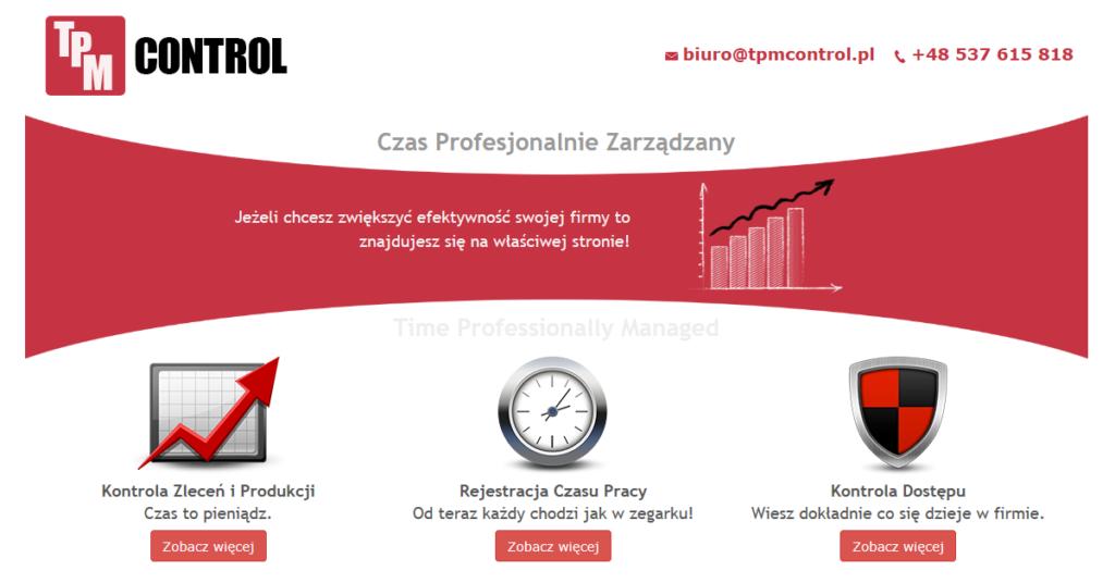 Infografika nowej szaty graficznej strony internetowej TPM Control
