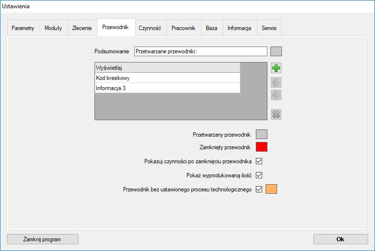 Ekran z danymi z systemu Planowania Produkcji i Obsługi Zleceń