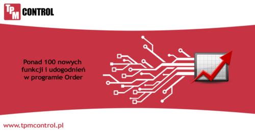 Infografika przedstawiająca nowe funkcje w Systemie Planowania Produkcji i Kontroli Zleceń