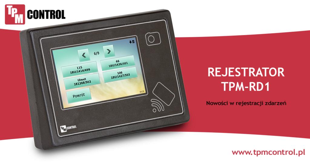Rejestrator TPM - RD1 zaprojektowany do pracy w systemie Planowania Produkcji i Obsługi Zleceń jak i w systemie Rejestracji Czasu Pracy