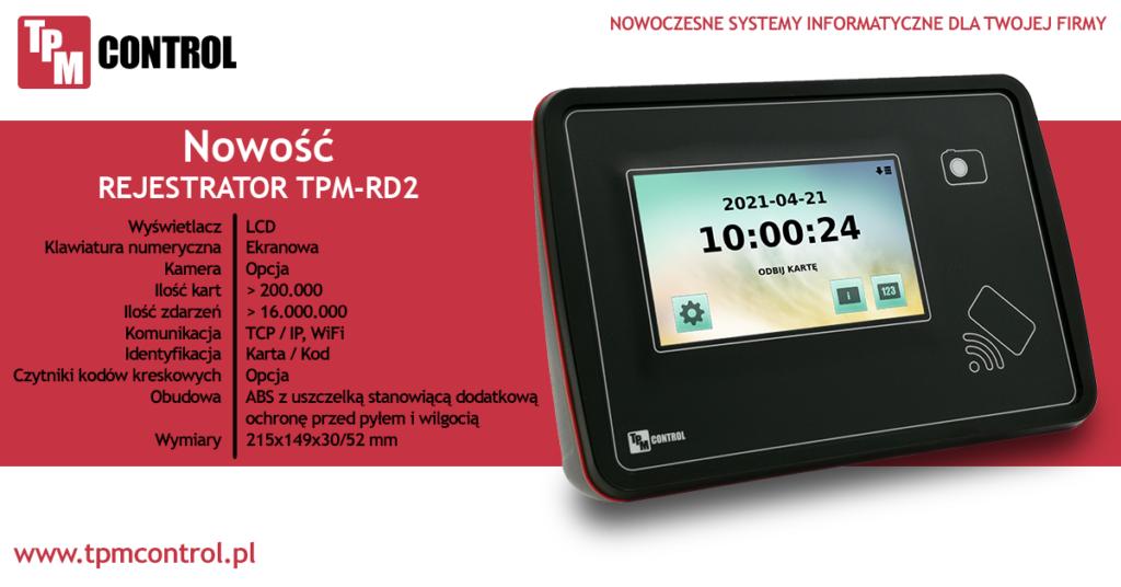 Rejestrator zaprojektowany specjalnie do pracy w systemie Rejestracji czasu pracy oraz w Systemie Planowania Produkcji i Obsługi Zleceń