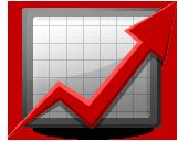 Infografika przedstawiająca czerwona strzałkę skierowaną ku górze symbolizująca wzrost produkcji
